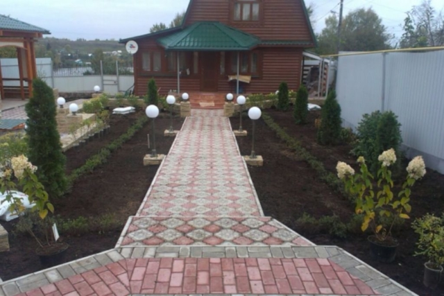 Благоустройство территории частного дома д Каменка Рис 3