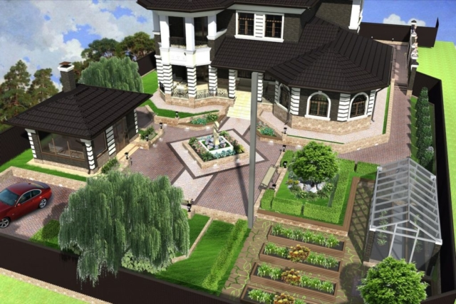 Благоустройство территории частного дома г Кохма Рис 2