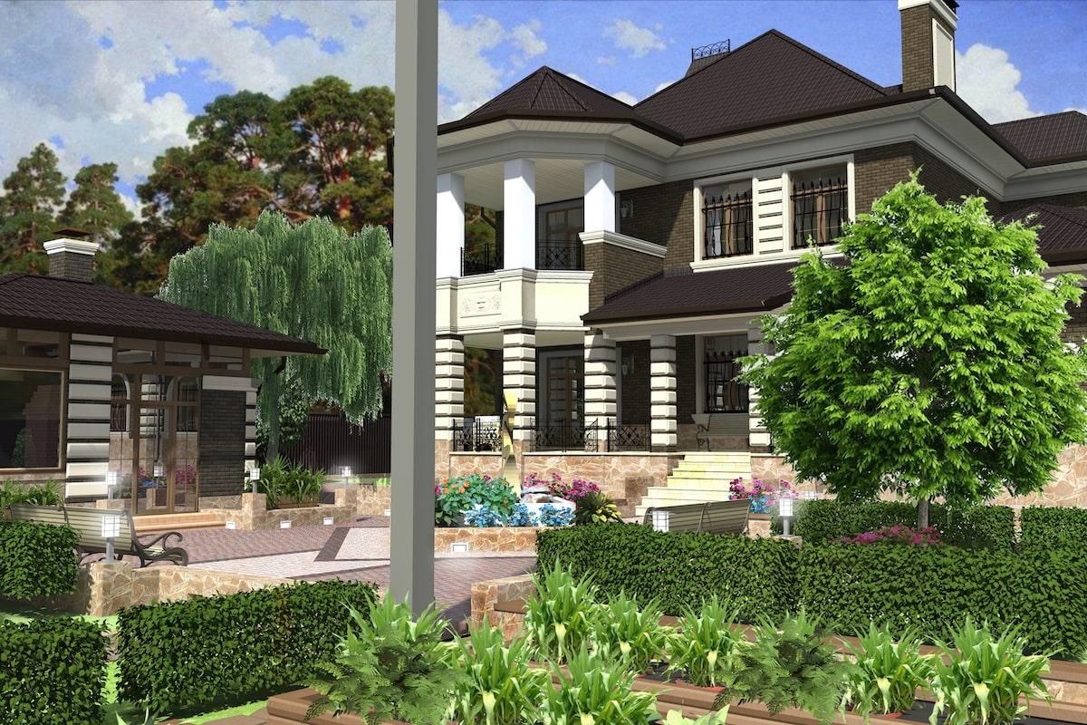 Благоустройство территории частного дома г Кохма Рис 8