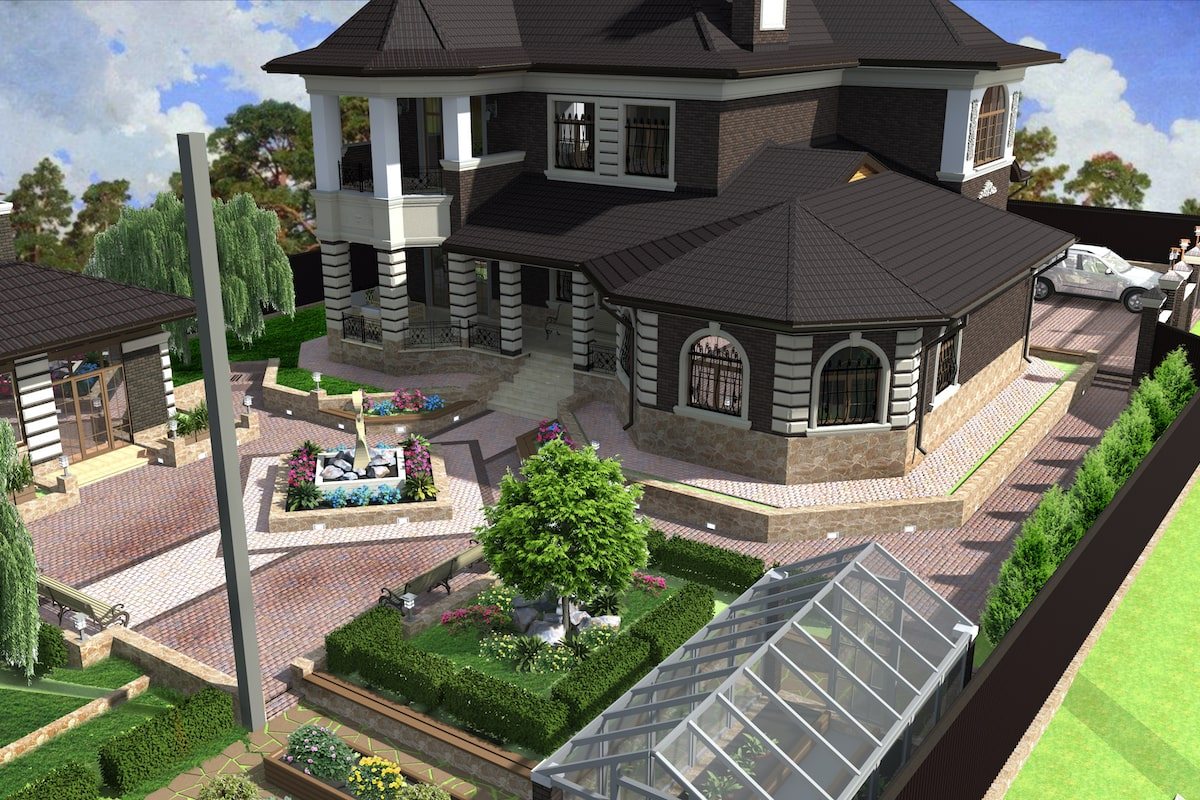 Благоустройство территории частного дома г Кохма Рис 6