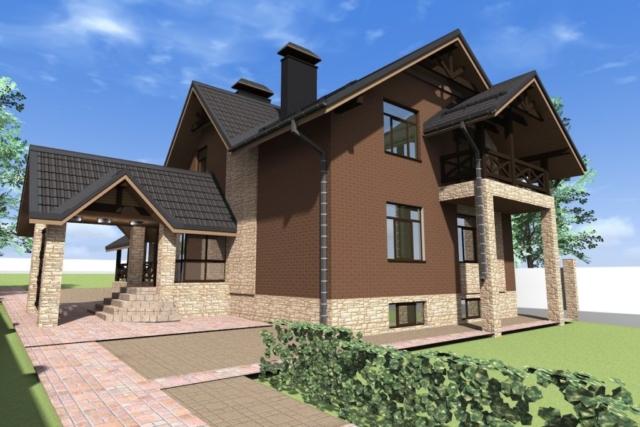 Индивидуальный жилой дом д. Писцово Рис 3