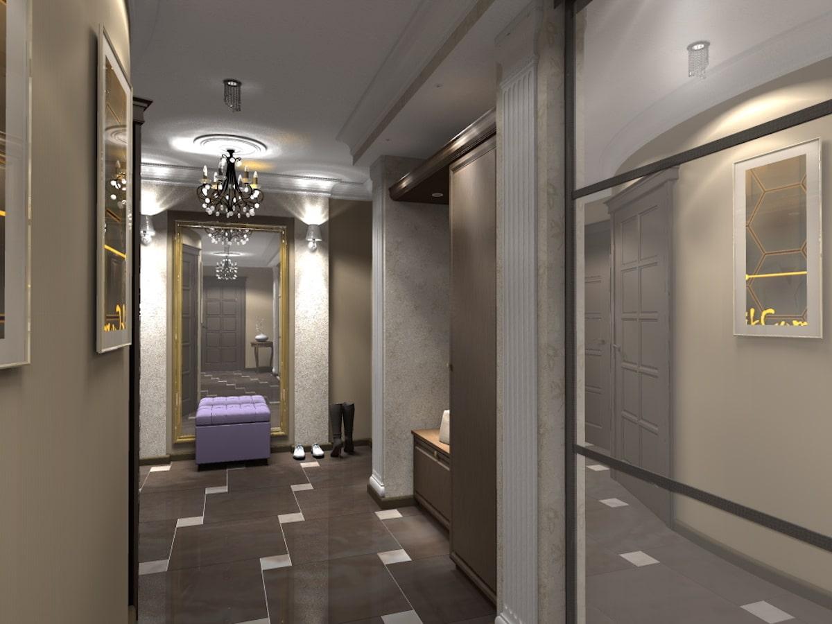 Дизайн квартиры, прихожая, Рис 1