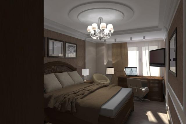 Дизайн квартиры, спальня, Рис 1