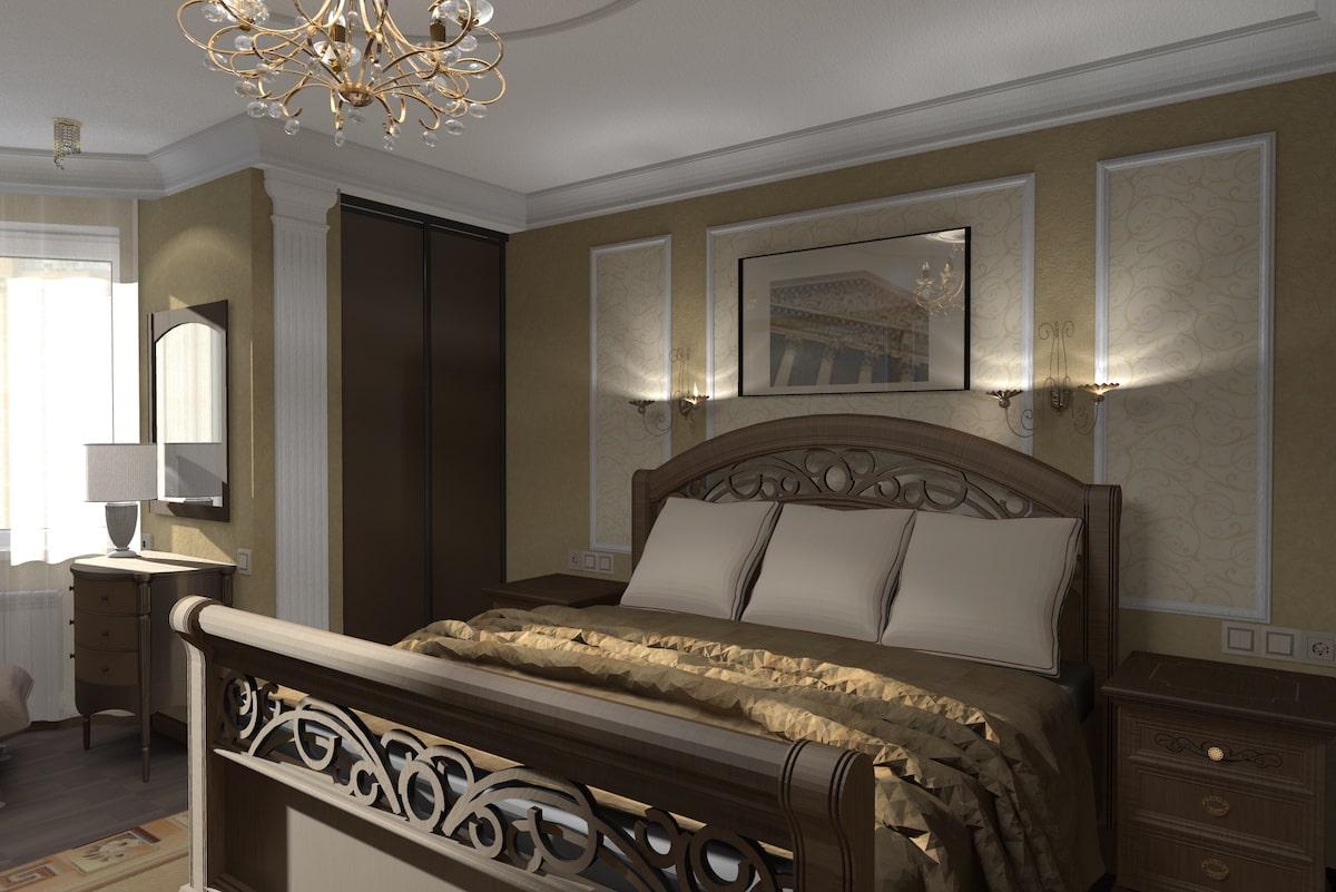 Дизайн квартиры, спальня, Рис 4
