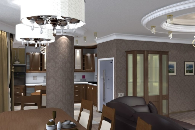Дизайн квартиры, зал, Рис 1