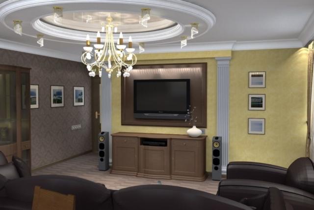 Дизайн квартиры, зал, Рис 2