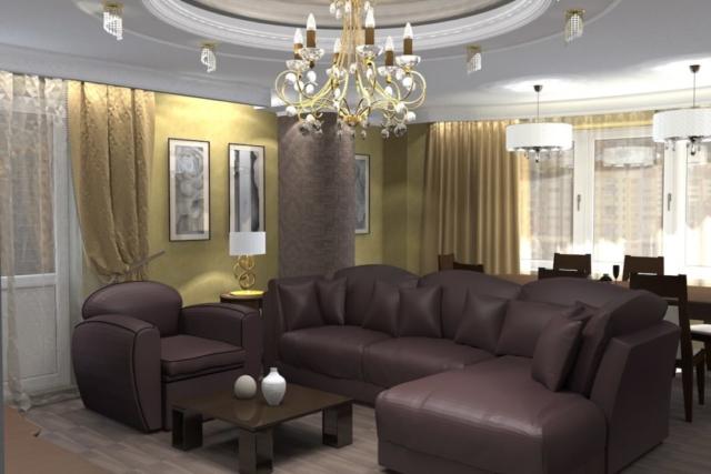 Дизайн квартиры, зал, Рис 4