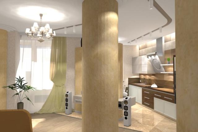 Дизайн квартиры, зал, Рис 5