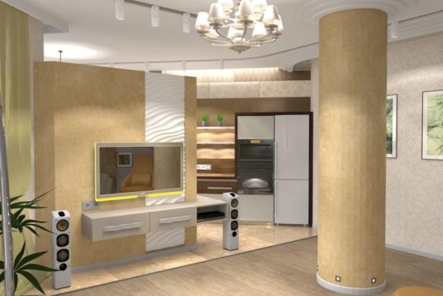 Дизайн квартиры, зал, Рис 6