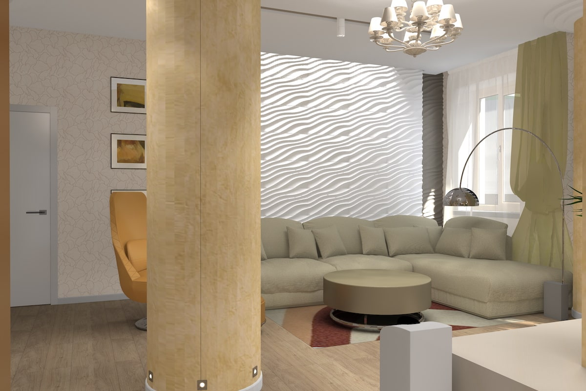 Дизайн квартиры, зал, Рис 9