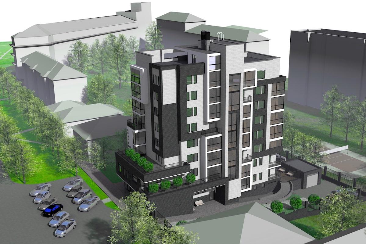 Эскиз многоквартирного жилого здания г. Иваново Рис 1