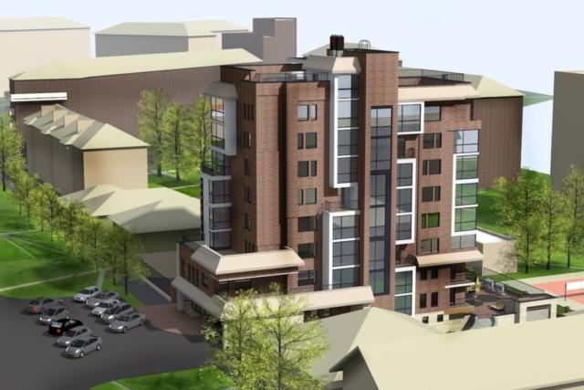 Эскиз многоквартирного жилого здания г. Иваново Рис 6