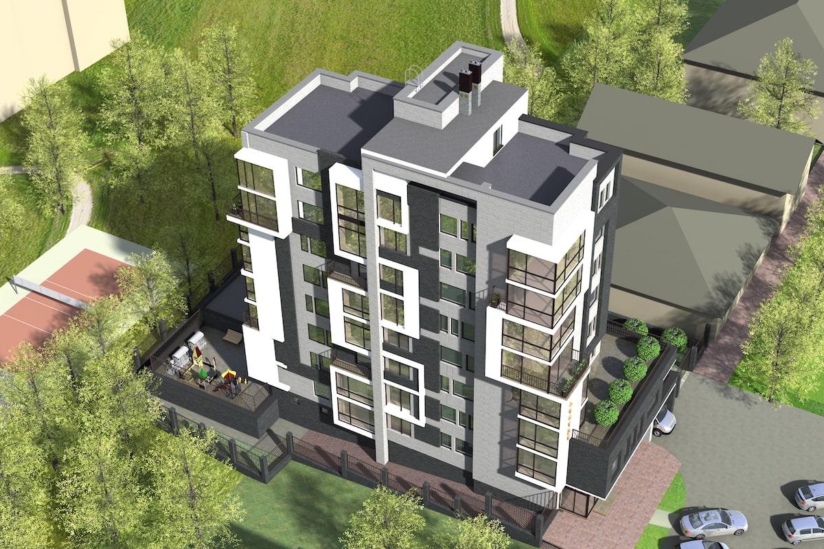 Эскиз многоквартирного жилого здания г. Иваново Рис 5