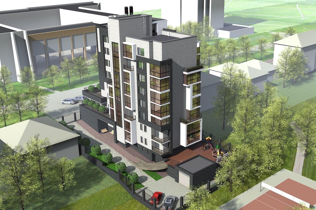 Эскиз многоквартирного жилого здания г. Иваново Рис 4