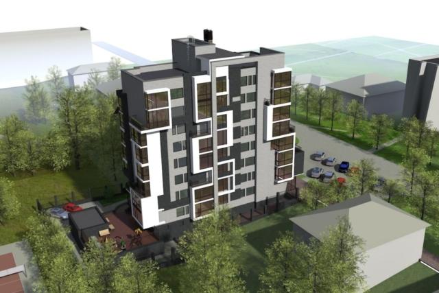 Эскиз многоквартирного жилого здания г. Иваново Рис 3