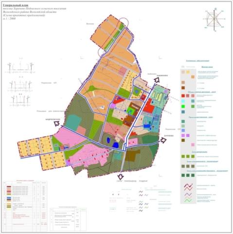 Генеральный план п. Харачево Вологодской области