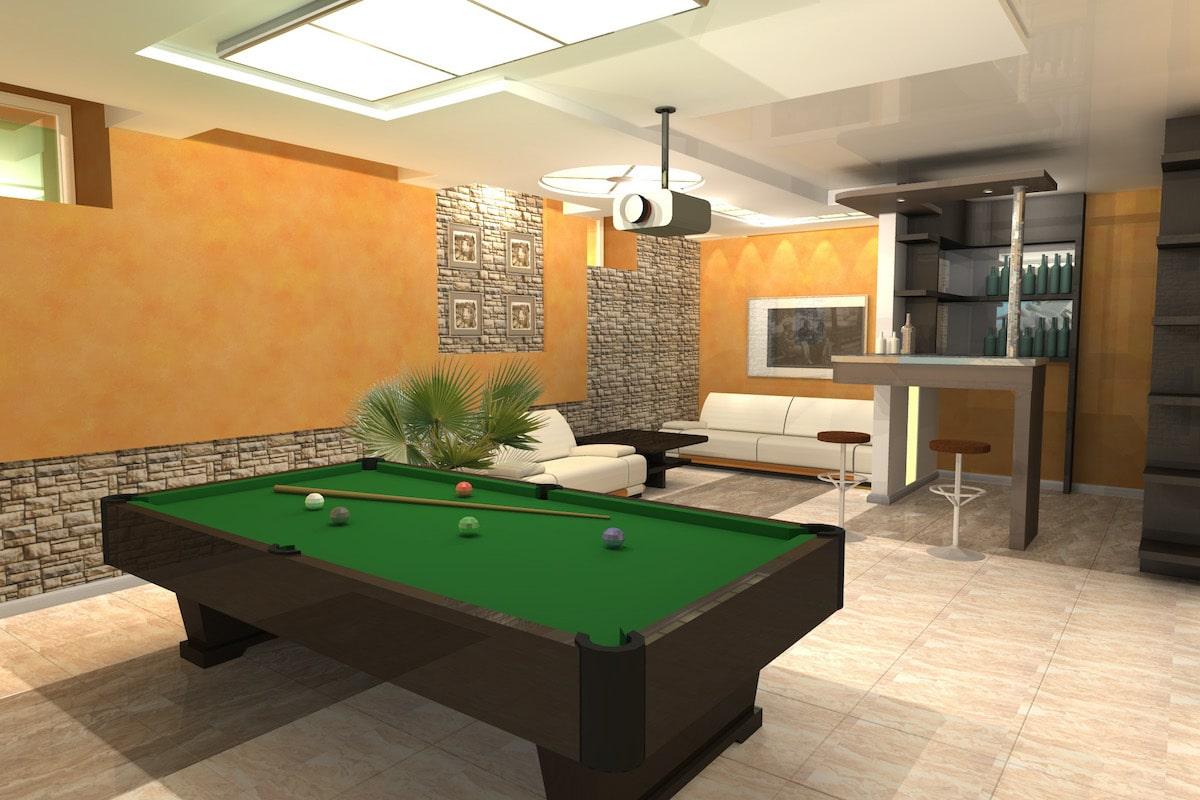 Индивидуальный жилой дом г. Иваново, 1 этаж, биллиардная, Рис 1