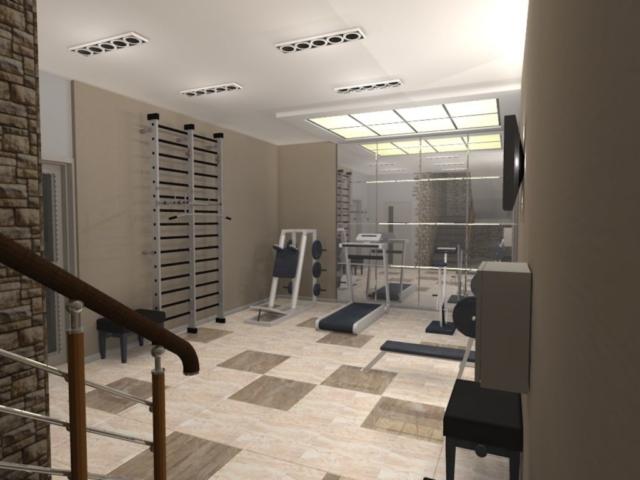 Индивидуальный жилой дом г. Иваново, 1 этаж, спортзал, Рис 1
