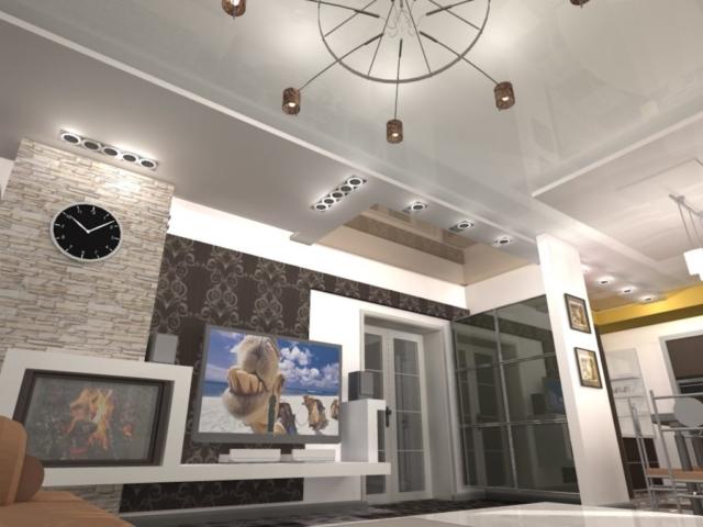 Индивидуальный жилой дом г. Иваново, 1 этаж, зал, Рис 12
