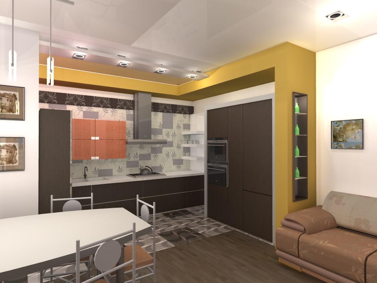 Индивидуальный жилой дом г. Иваново, 1 этаж, зал, Рис 13