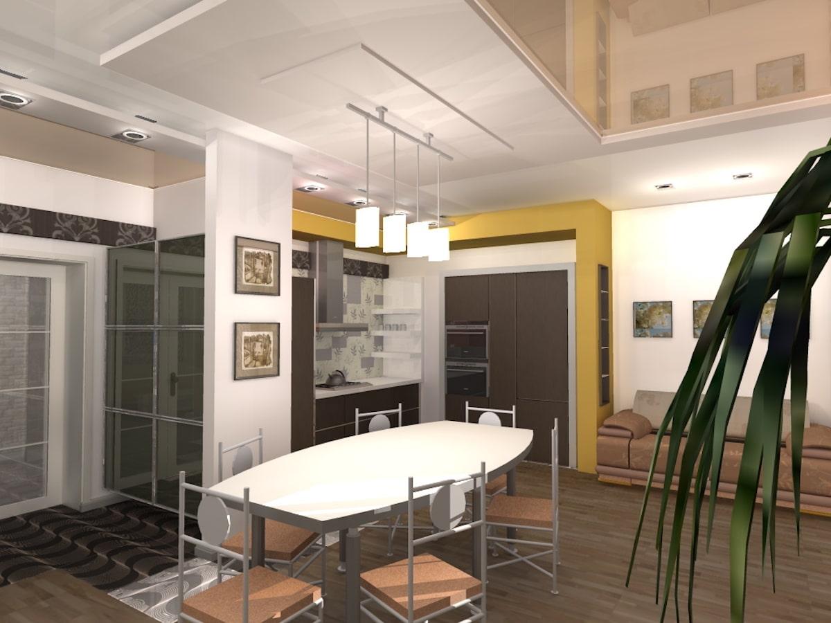 Индивидуальный жилой дом г. Иваново, 1 этаж, зал, Рис 15