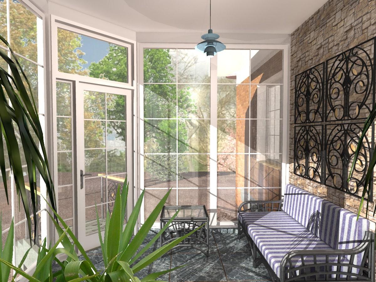 Индивидуальный жилой дом г. Иваново, 1 этаж, зал, Рис 4