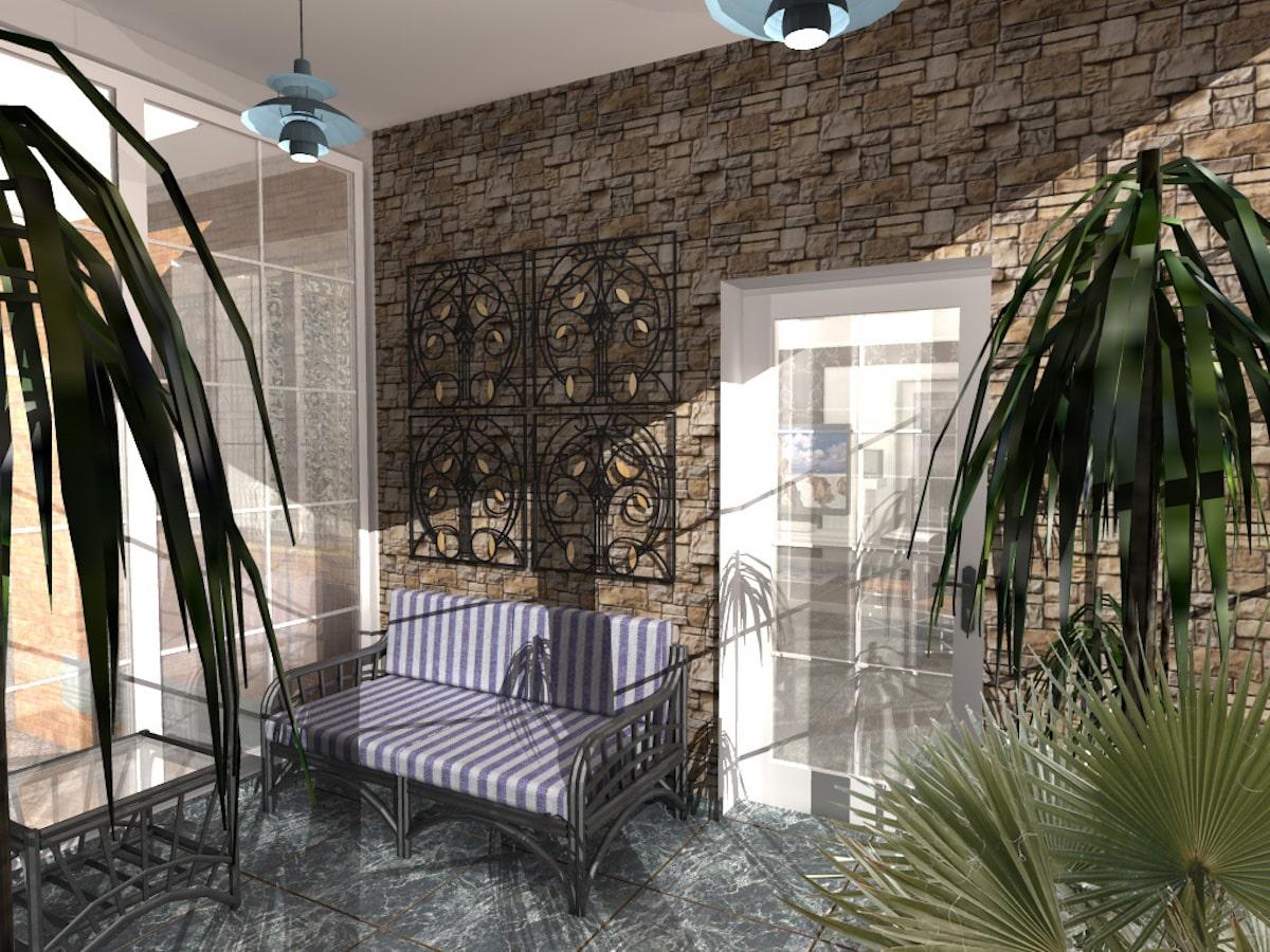 Индивидуальный жилой дом г. Иваново, 1 этаж, зал, Рис 6