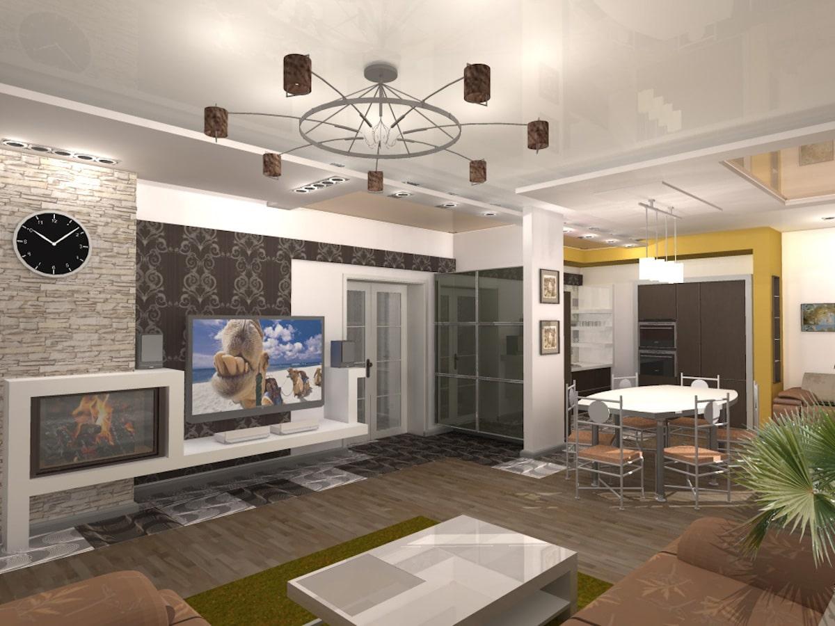 Индивидуальный жилой дом г. Иваново, 1 этаж, зал, Рис 7