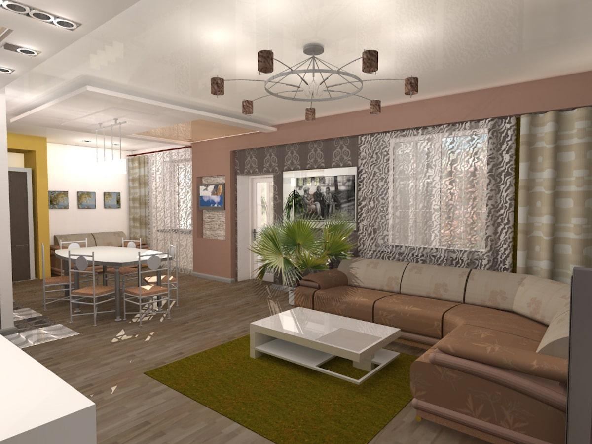 Индивидуальный жилой дом г. Иваново, 1 этаж, зал, Рис 9