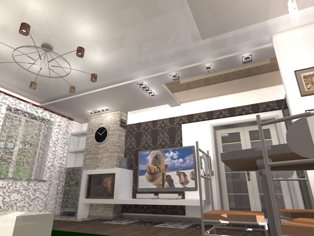 Индивидуальный жилой дом г. Иваново, 1 этаж, зал, Рис 10