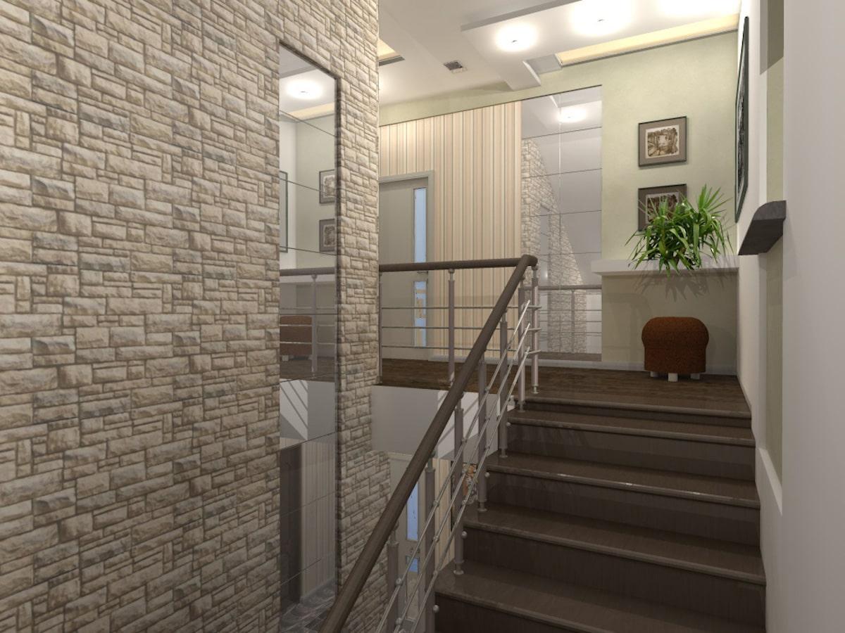 Индивидуальный жилой дом г. Иваново, 2 этаж, холл, Рис 16