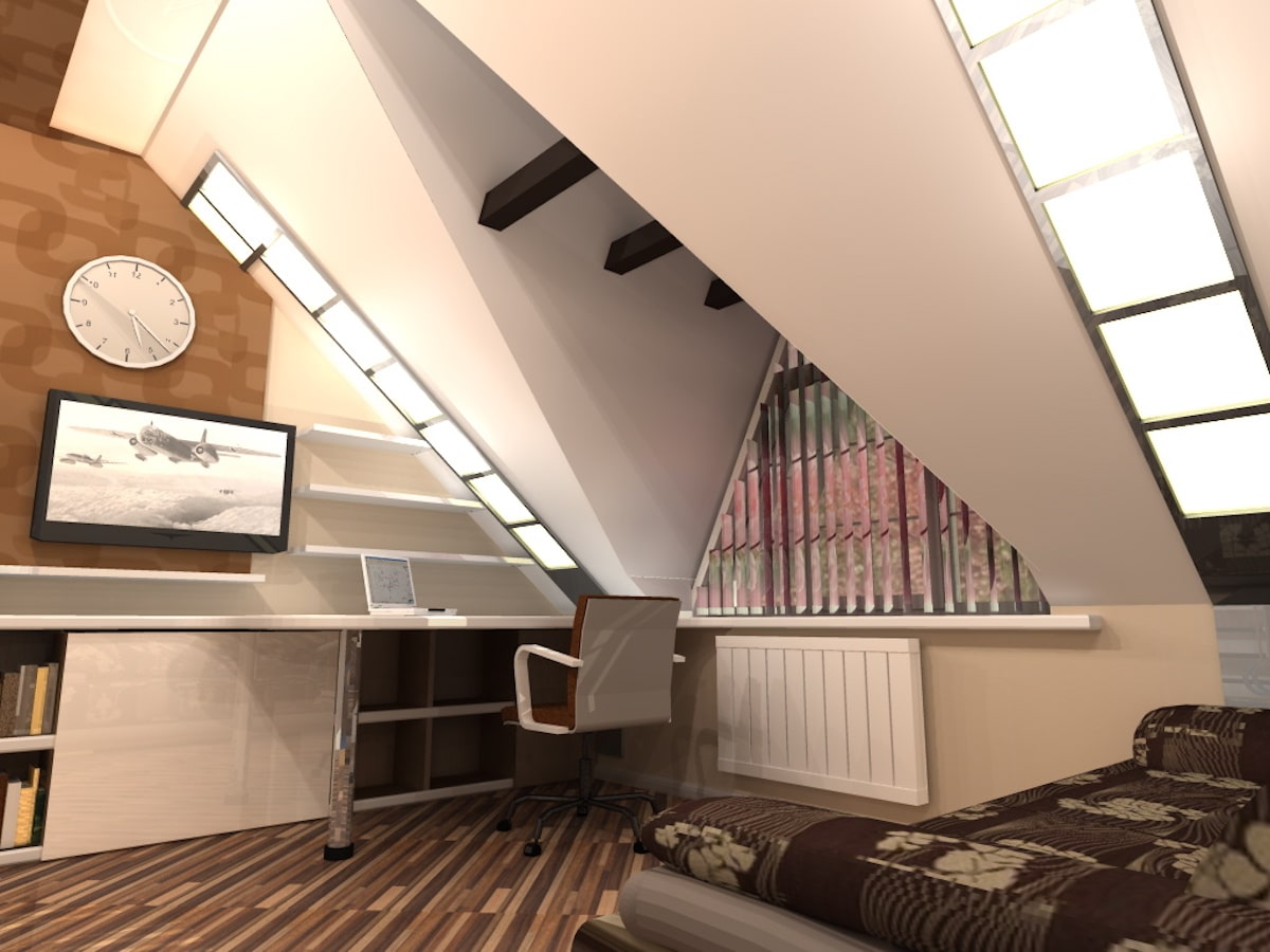 Интерьер дома на одну семью, 2 этаж, 2 спальня, Рис 2