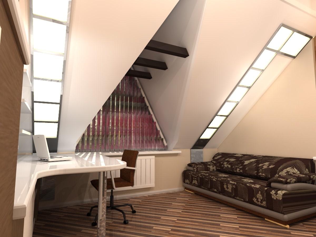 Интерьер дома на одну семью, 2 этаж, 2 спальня, Рис 3