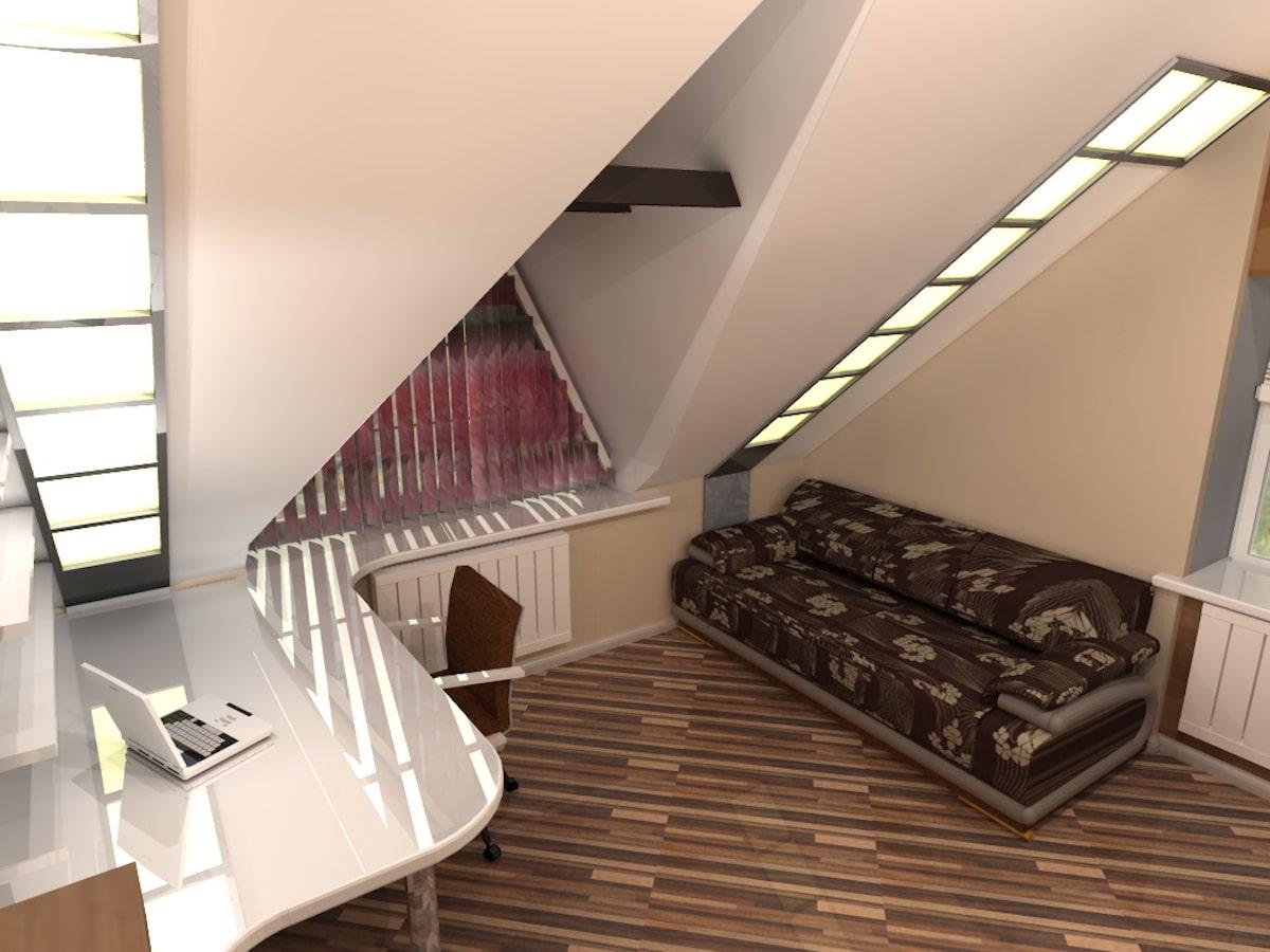 Интерьер дома на одну семью, 2 этаж, 2 спальня, Рис 4
