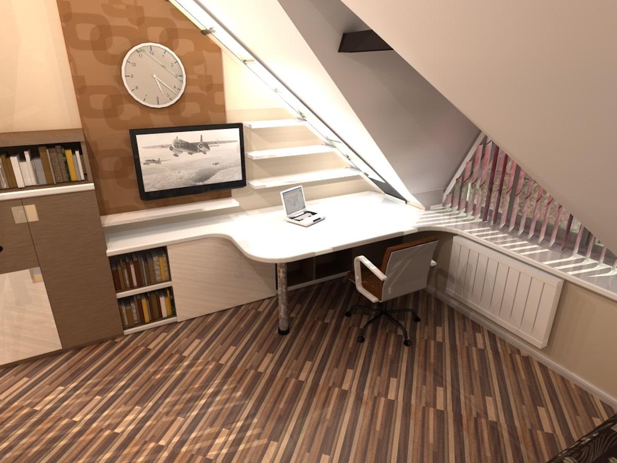 Интерьер дома на одну семью, 2 этаж, 2 спальня, Рис 5