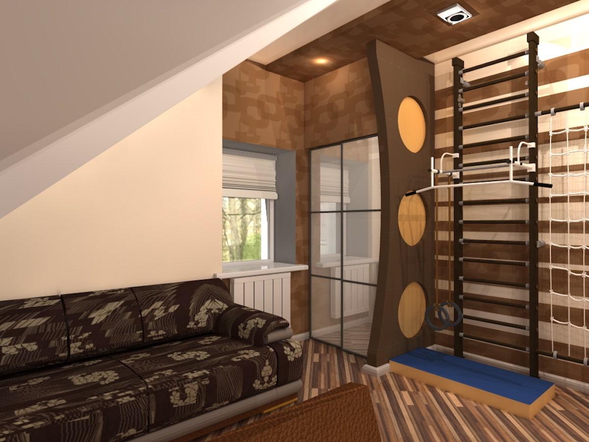 Интерьер дома на одну семью, 2 этаж, 2 спальня, Рис 7