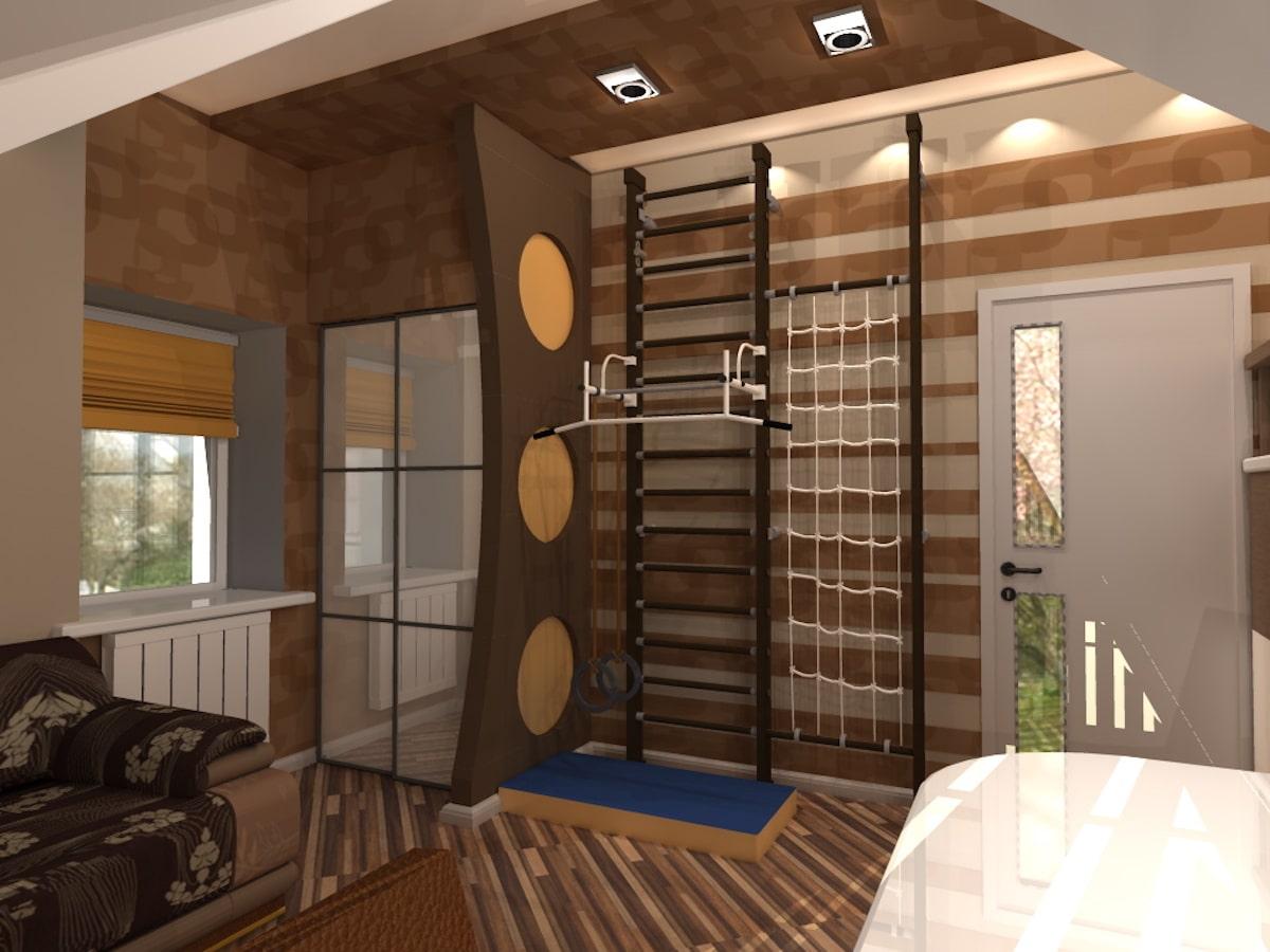 Интерьер дома на одну семью, 2 этаж, 2 спальня, Рис 8