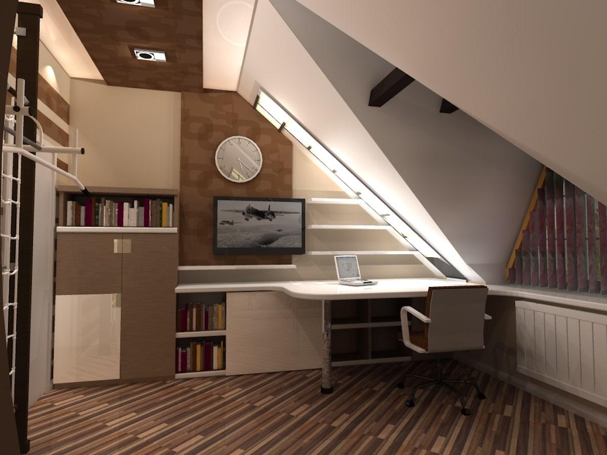 Интерьер дома на одну семью, 2 этаж, 2 спальня, Рис 9