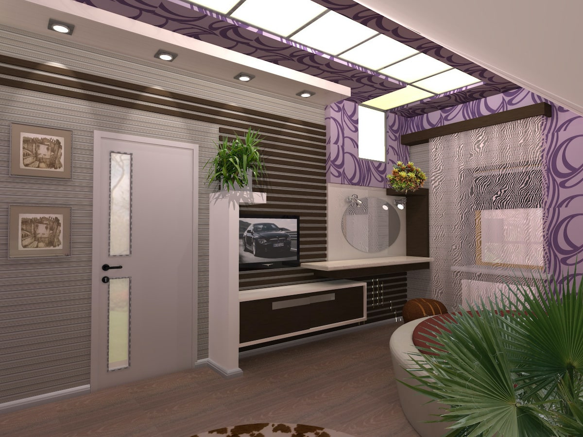 Интерьер дома на одну семью, 2 этаж, 3 спальня, Рис 1