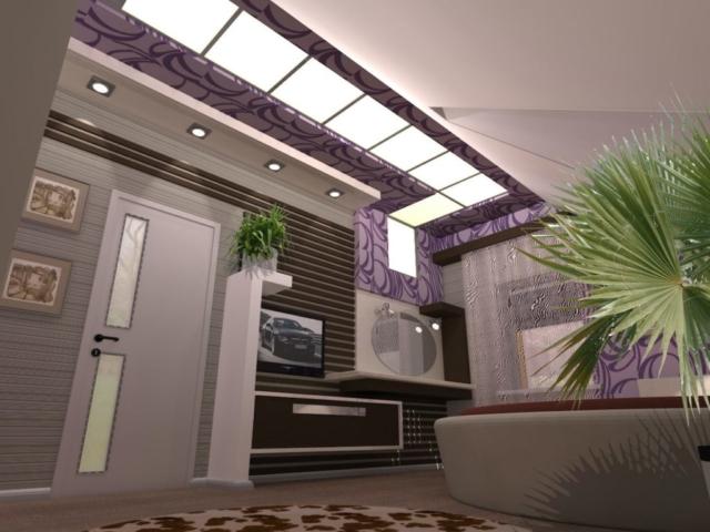 Интерьер дома на одну семью, 2 этаж, 3 спальня, Рис 2