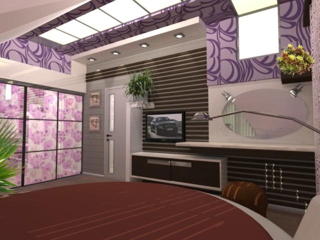 Интерьер дома на одну семью, 2 этаж, 3 спальня, Рис 3