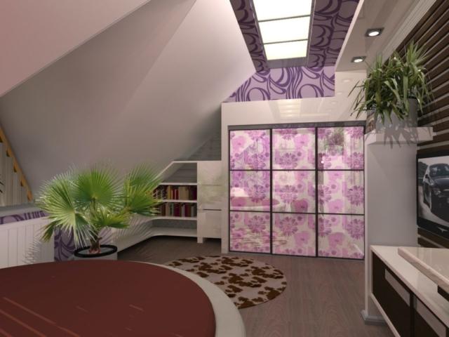 Интерьер дома на одну семью, 2 этаж, 3 спальня, Рис 4