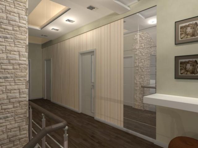 Интерьер дома на одну семью, 2 этаж, хол, Рис 2