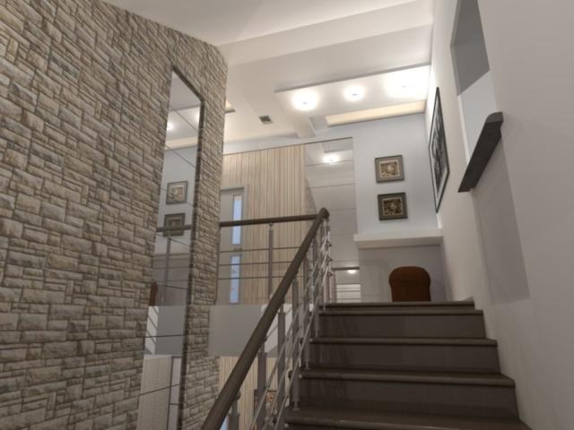 Интерьер дома на одну семью, 2 этаж, хол, Рис 11