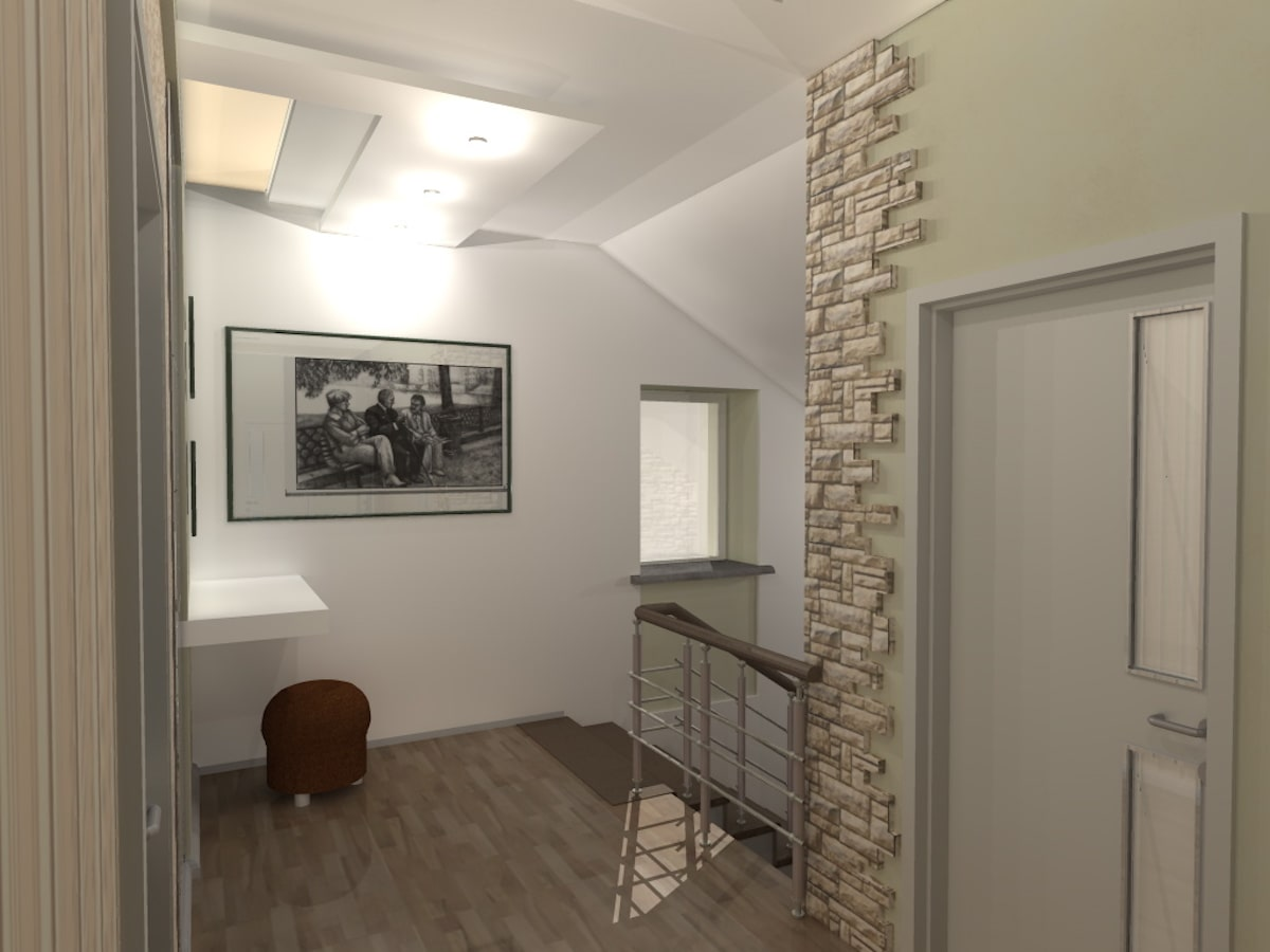 Интерьер дома на одну семью, 2 этаж, хол, Рис 12