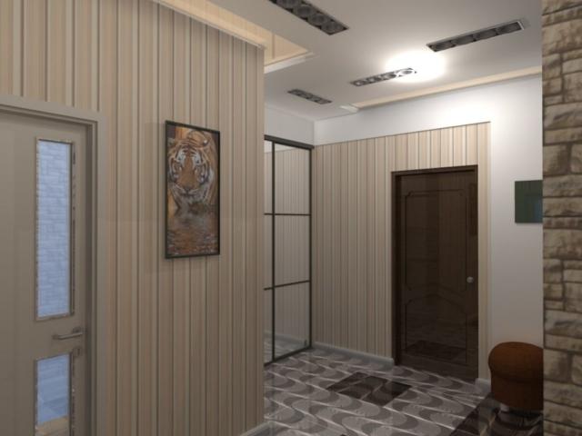 Интерьер дома на одну семью, 2 этаж, хол, Рис 13