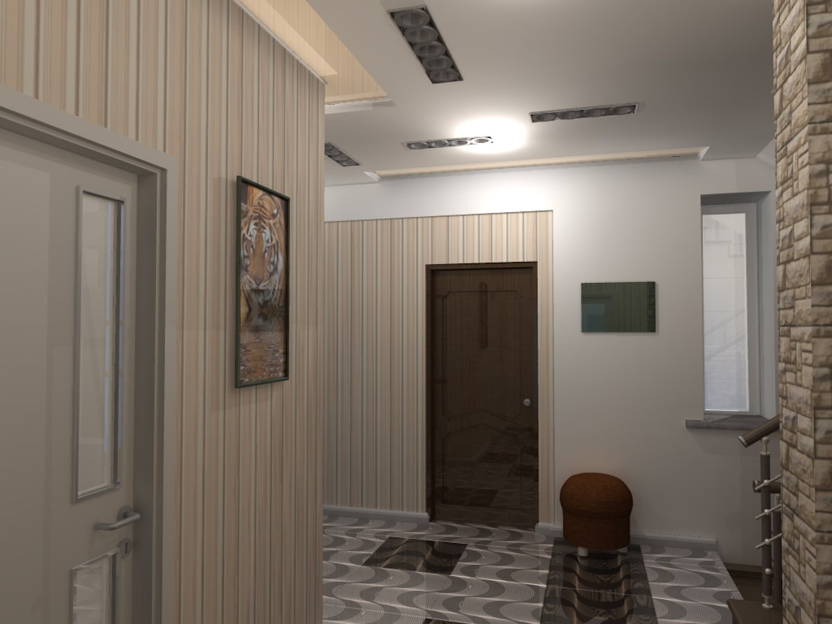 Интерьер дома на одну семью, 2 этаж, хол, Рис 14