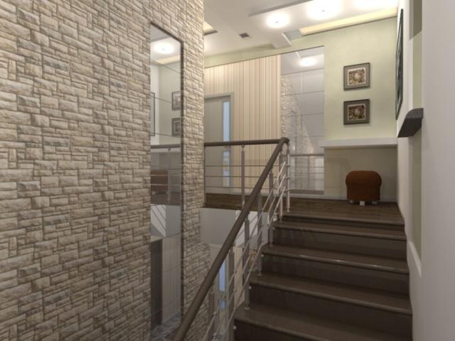Интерьер дома на одну семью, 2 этаж, хол, Рис 15