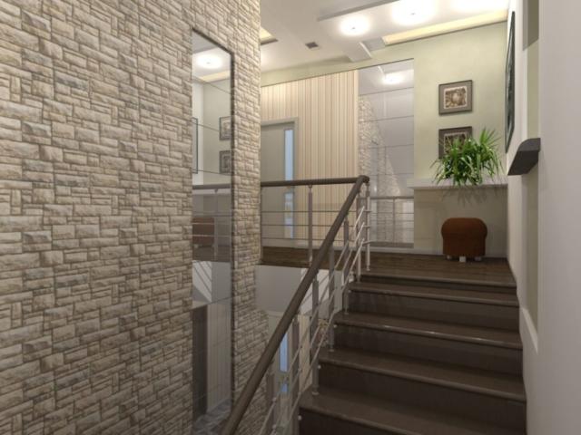 Интерьер дома на одну семью, 2 этаж, хол, Рис 16