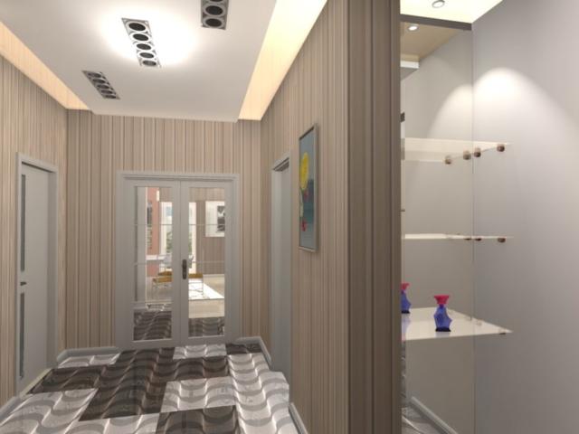 Интерьер дома на одну семью, 2 этаж, хол, Рис 17
